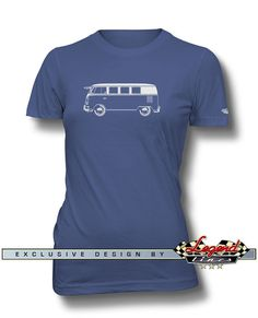 Volkswagen Bus Kombi Standard T-Shirt for Women  A game of subtle lights and shadows reveal the magnificent curves of the body of this Legendary Bus