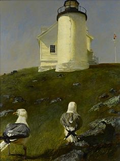 Jamie Wyeth, Sea Birds. This shall hang prominently on a living rm wall @ my cottage by the sea