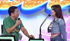 """""""Wowowin"""" lead host Willie Revillame reacts to a car show model who said that she is ready to take care of him. 21 Years Old, Year Old, Willie Revillame, Who Said, Cute Memes, Old Models, He Is Able, Man Humor, A Funny"""