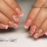 Image IMG 8473 in Beautiful nails album Flower Nail Art, Nail Art Designs, Beautiful, French, Board, Summer, Perfect Nails, Cute Nails, Beauty