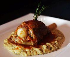 Kuzu Incikli Hunkar Begendi / Overnight wood oven-baked fork tender shank of lamb, home-dried herbs & spices served on char-grilled aubergine puree and mozzarella cheese / Chef's Signature Menu