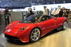 Pagani Huayra Supercar At Motor Show