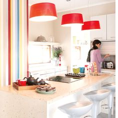 How to clear clutter in a compact kitchen Kitchen Colors, Kitchen Ideas, Compact Kitchen, Home Kitchens, Small Kitchens, Kitchen Dining, Dining Rooms, Decorating Tips, Small Spaces