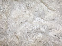 Melissa Corded & Beaded Chantilly Couture Bridal Lace Fabric Ivory | Fabric | Bridal Fabrics | Minerva Crafts