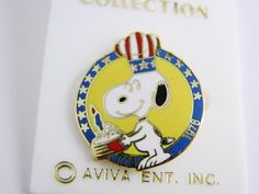 Mouse over image to zoom  Have one to sell? Sell it yourself  Vintage Snoopy Bicentennial Collection Enamel Pin Collectible 1976  $0.99