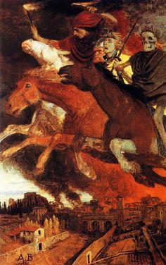 The Athenaeum - War (Arnold Böcklin - )