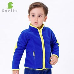 Svelte Brand Children Boys Girls Lining Thick Fur Fleece Jackets Coats Outerwear Clothing with 2 Zipper Pockets for Spring Fall
