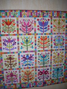 Lollipop quilt by Mieke Vandelanotte