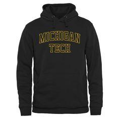 Michigan Tech Huskies Everyday Pullover Hoodie - Black