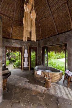 Bathroom of Guestroom/Hut of the Laucala Island Resort, Fiji