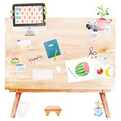 DESK - Amy Borrell | Illustration Design
