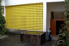 The Entrance The Plan The Pool and the Modular Concrete Screen   Patio Steps to the Chapel  All Photos by Ignacio J. Padilla  Background: Lu...