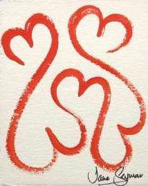 Open Hearts Red from the Healing Hearts series of paintings by Jane Seymour its a little family <3