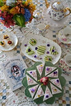 Teatime delights, recipes and inspiration for hosting a vintage tea party! I'm joining The Novel Bakers for Tea Party Week, with The Vintage Tea Party Book, A Complete Guide to Hosting your Perfect… Royal Tea Parties, Vintage Tea Parties, Vintage Party, Angel Adoree, Tea Party Table, Party Queen, Princess Party, Flower Cookies, Tea Sandwiches