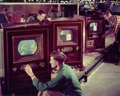 Primele televizoare color, 1953.