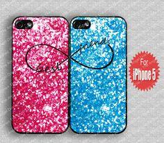 Best Friends SparkleGlitter&Glow  iPhone 5 Case by TheAngelDiaries, $15.99