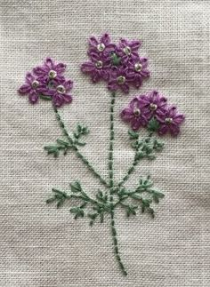 Hand Embroidery Patterns Flowers, Hand Embroidery Stitches, Embroidered Flowers, Floral Embroidery, Embroidery Designs, Crazy Quilt Stitches, Cross Stitch Rose, Quilt Stitching, Sewing Hacks