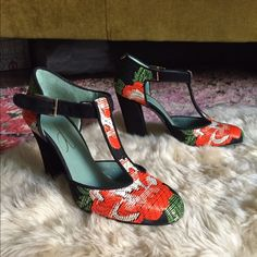 I just discovered this while shopping on Poshmark: Anthropologie T-Strap Heels!NWT. Check it out! Price: $208 Size: 9, listed by costumebaldor