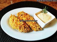 DIN SERTARUL CU REȚETE: Piept de pui crocant la cuptor Carne, Dairy, Cheese, Food Ideas