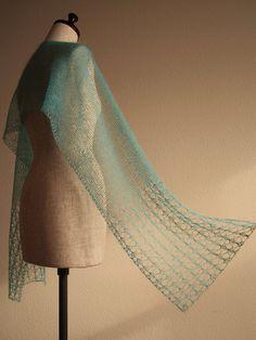 Ravelry: knittimo's aqua lace scarf