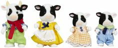 Calico Critters Friesian Cow Family - Free Shipping