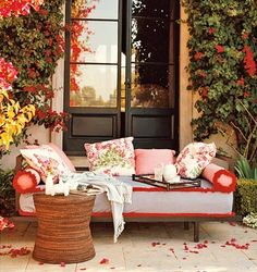 Floral Romance for a tiny porch.