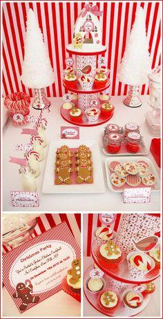 Candyland Christmas Dessert Table