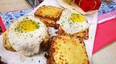 Croque madame y croque monsieur, desayuno francés