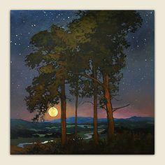 Evening Summer Breeze by Jan Schmuckal Oil ~ 36 1/4 x 36 1/4