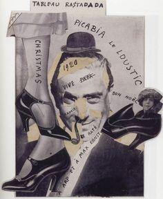 Francis Picabia, Tableau Rastadada, 1920, collage, Bibliothèque Paul Destribats…