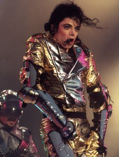 Michael Jackson performs during his History World Tour.