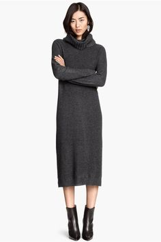 30 Sweaterdresses To Beat The Winter Blues #refinery29  http://www.refinery29.com/sweater-dress#slide1  Midi dresses for winter: That's a trend we can get behind.