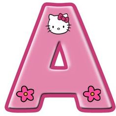 Oh my Alphabets: Hello Kitty alphabet in large letters. Hello Kitty Art, Hello Kitty Themes, Hello Kitty Birthday, Scrapbook Letters, Scrapbook Background, Hello Kitty Pictures, Kitty Images, Anniversaire Hello Kitty, Hello Kitty Invitations