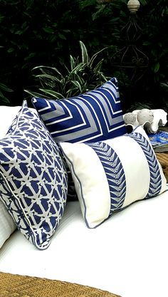 Karen Robertson Royalty Collection | Outdoor Pillows | Beach Pillows | Coastal Pillows | Coastal Home Pillows