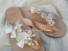 elenas sandals: Ιούνιος 2012 Greek Sandals, Palm Beach Sandals, Decorated Shoes, Prada, Mini Vestidos, Louis Vuitton, Flip Flops, Footwear, Diy Projects