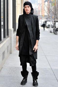 Macabre | goth | dark fashion | high end menswear | street style | obscur menswear