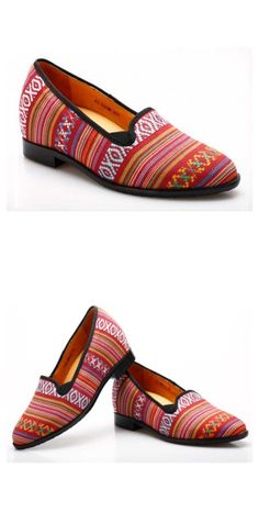 3ccc67d53acd Vintage Style Women Multicolor Striped Casual Elevator Shoes 5.5CM 2.17  Inch Taller