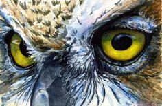 Eyes of Owls No. 22 Painting.    John D Benson