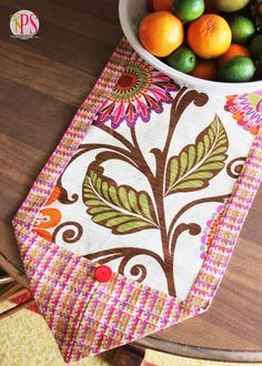 In need of a spring and summer table runner? Check out this super cute tutorial from @Amy Bell {Positively Splendid} :) She used @HGTV HOME fabric!