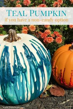 This year for Halloween put out a Teal Pumpkin and stock up on some non-candy treats. Make Halloween fun for all kids! Fun Halloween Games, Pretty Halloween, Easy Halloween Crafts, Halloween Party Decor, Holidays Halloween, Halloween Kids, Happy Halloween, Fashion Art