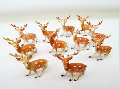 Vintage Cake Toppers | Plastic Deer | Cake Decorations | Cupcake Toppers |Miniatures by WhimzyThyme on Etsy #caketopper #cupcakedecor
