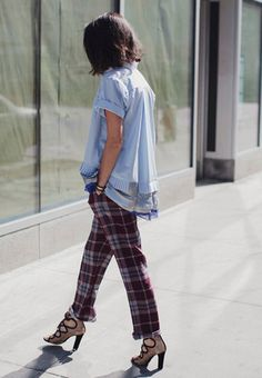 Awesome pants - it might be like wearing cozy flannel sheets all day with great heels