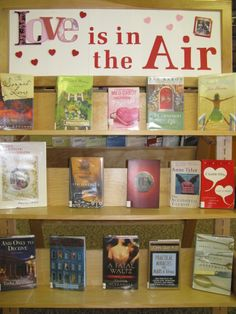 Westwood Library Valentines Day book display made with my Cricut - KC