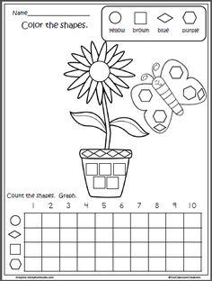 Free Spring Shapes Graph for Kindergarten
