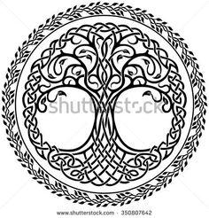 356 Mejores Imágenes De árbol Celta Drawings Tattoos Of Wolves Y