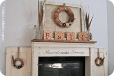 Mantel  Decorations : IDEAS &  INSPIRATIONS : Fall Mantels