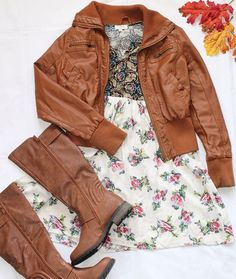 How will you wear our Skylar-Ivory Floral Dress?! With our Mia Tan boots for more of a casual look?! Or ⬆️... . Dress $30: http://www.safirestyle.com/collections/dresses/products/sunny-delight-ivory-floral-dress  Boots $60: http://www.safirestyle.com/collections/shoes/products/mia-tan-boots . . . . . . . . #safirestyle #shoponline #boutique #shoes #boots #dress #cute #comfy #casual #fashion #style #falllook #fall #brown #fashionista #beautiful #outfit #wednesday #wiw #ootd #photooftheday…