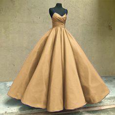 gold prom dress,wedding dress #eveningdress