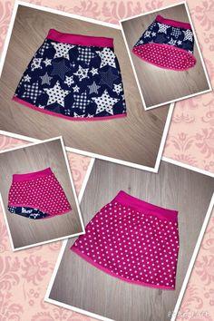 Omkeerbaar rokje. Patroon van bandenlint.nl Girls Dresses Sewing, Sewing Kids Clothes, Cool Kids Clothes, Baby Kids Clothes, Sewing For Kids, Little Girl Skirts, Skirts For Kids, Girl Dress Patterns, Clothing Patterns