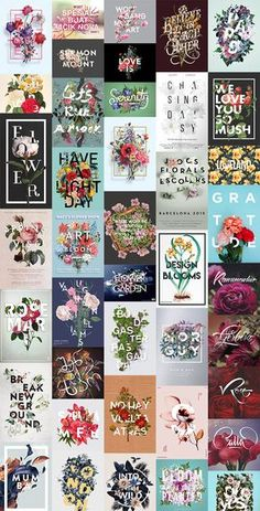 A beautiful design trend that has emerged recently is the combination of flowers and text to produce elegant floral typography layouts. These designs merge botanical photographs or illustrations with bold typography compositions by intertwining the flower stems, petals and leaves around the letters, which results in a great sense of depth. In this showcase I …